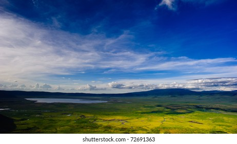 Beautiful scenery which can be seen at an observatory in Ngorongo, Africa