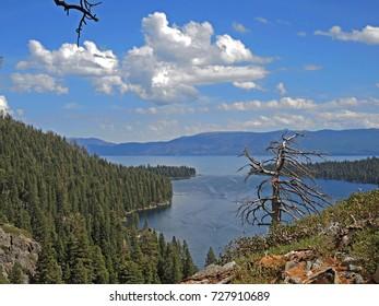 Beautiful and scenic Emerald Cove, on Lake Tahoe.