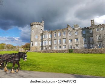 beautiful scenic Irish castle in the west of Ireland. free public tourist attraction.