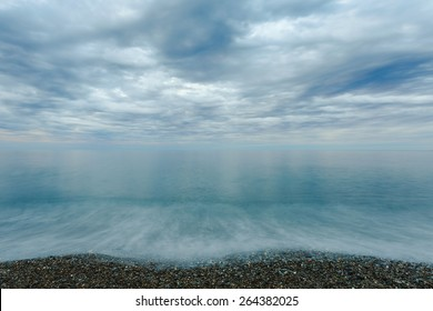 Beautiful scenic sea landscape with dramatic clouds