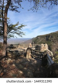 A beautiful scenic view of the Cumberland Plateau which is the southern part of the Appalachian Plateau in the Appalachian Mountains as seen from an overlook at Cloudland Canyon Park in Georgia USA.