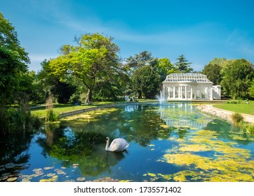 Beautiful scenic view of the famous Gunnersbury park in London in a sunny day