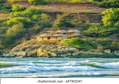 Beautiful Scenic view of Kudla Beach - Gokarna,Karnataka,India