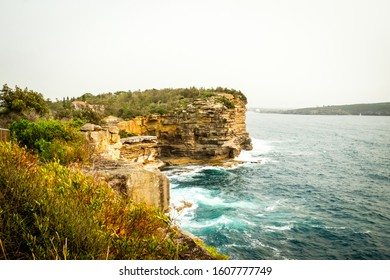 Beautiful scenic view of the ocean cliff at The Gap near the Watsons Bay in Sydney, Australia