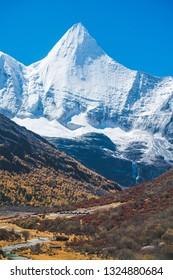 Beautiful Scenic of  Yading Natural Reserve, Daocheng , Sichuan - China