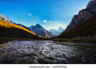 Beautiful Scenic of  Yading Natural Reserve, Daocheng , Sichuan