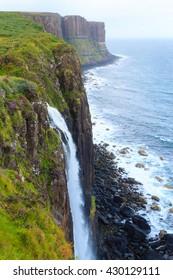 Beautiful scottish panorama from Highland region. Scotland travel destination