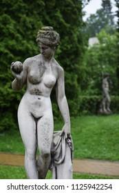 Beautiful sculpture in the park. Morshyn, Ukraine.