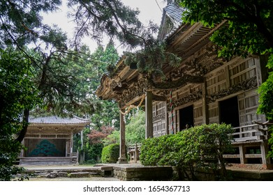 Beautiful sculpture shrine and Noh stage - Shutterstock ID 1654367713