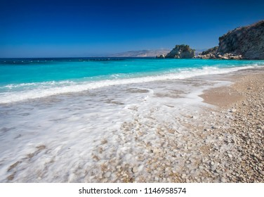Beautiful sea beach in Albania