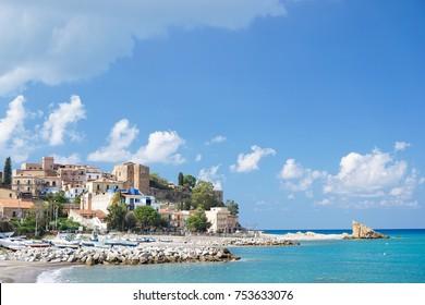 Beautiful sea beach in Castel di Tusa, Sicilia