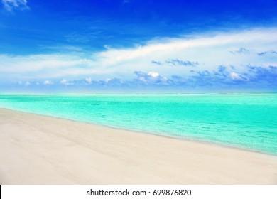 Beautiful sea beach at tropical resort