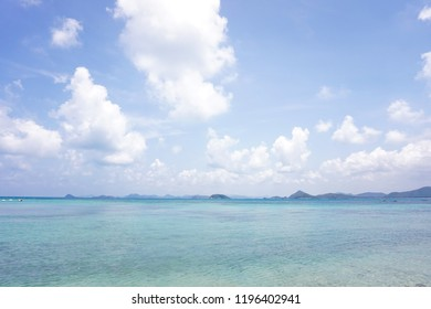 beautiful sea with blue sky background