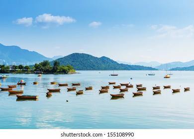 Beautiful sea coast and boat