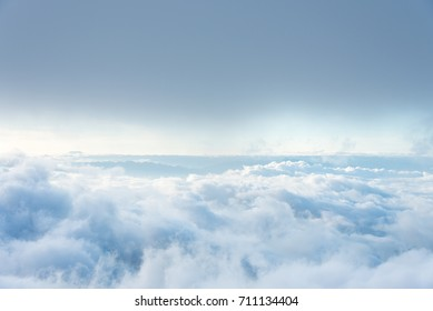 Beautiful sea of fog at view point on the mountain