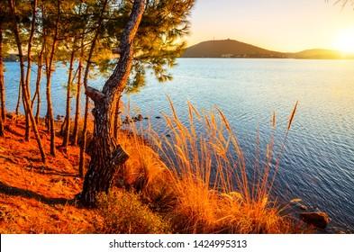 Beautiful sea landscape near city Ayvalik, Turkey
