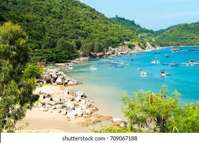 Beautiful sea landscape in Quy Nhon, Vietnam