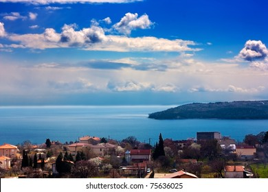 Beautiful sea landscape.View from Varna,Bulgaria