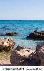 Beautiful sea near to Elafonisi island, Crete, Greece