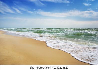 Belle mer par beau temps.Seascape