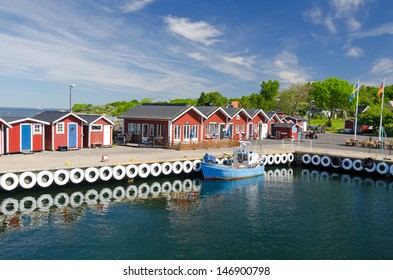 Beautiful sea port on Hano island