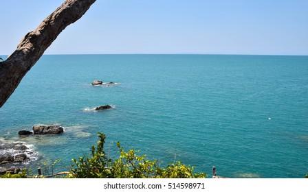 Beautiful sea Ranong Thailand