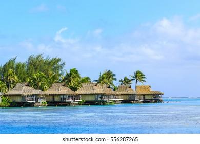 The Beautiful sea and resort in Moorae Island at Tahiti PAPEETE, FRENCH POLYNESIA