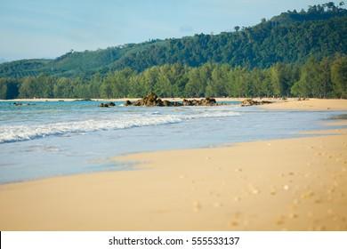 beautiful sea, sand and blue sky in Khao Lak, Thailand
