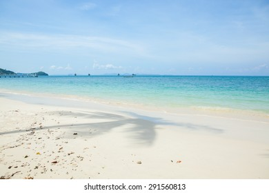 Beautiful sea and sand in the south of Thailand.