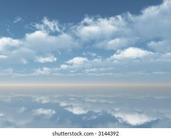 Beautiful sea and sky - digital artwork