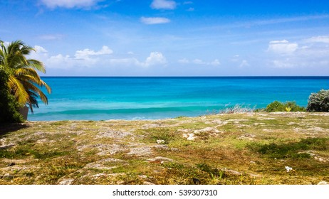 Beautiful sea view from cliff in tropical island