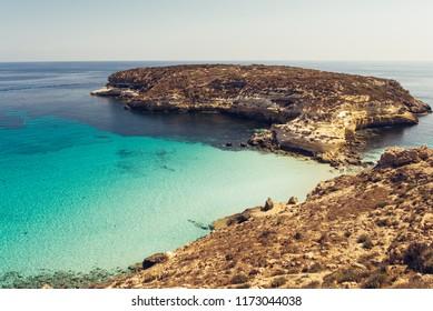 Beautiful Sea view in Lampedusa Italy - Vacation - Holiday - Mediterranean Sea
