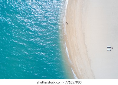 Beautiful sea when viewed from the sky.