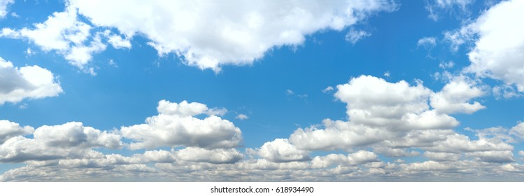 Beautiful Seamless  blue sky panorama