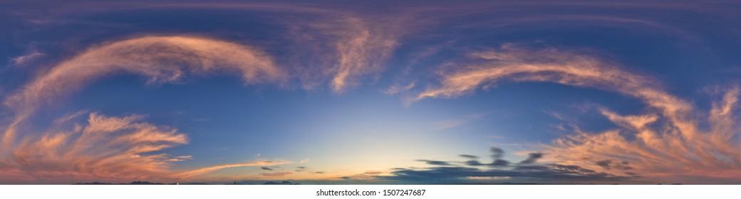 Beautiful Seamless cloudy blue sky panorama