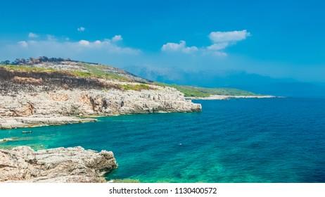 Beautiful seascape of adriatic coast