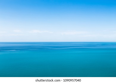 Beautiful seascape in the Atlantic ocean. Seascape with cloudy sky and ripples on the water.