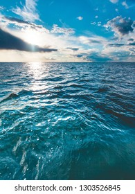Beautiful seascape blue sea horizon and sky. Tranquil scene. Natural composition of nature. Landscape.