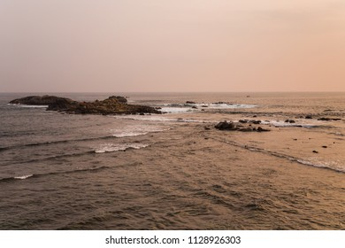 Beautiful seascape from city Galle at Sri Lanka.Image is intentionally toned.
