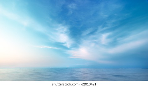 Beautiful seascape. Natural composition of nature.