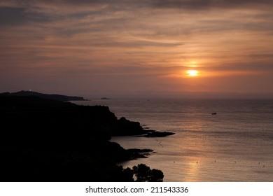 Beautiful seascape with on sunrise (Cap de Creus, Girona, Spain)