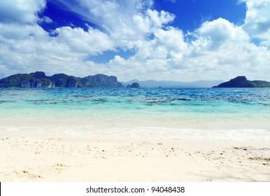 Beautiful seascape. Sky and sea.