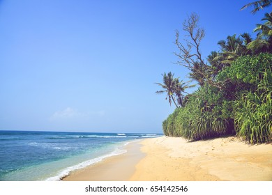 beautiful seascape, tropical beach, Sri Lanka