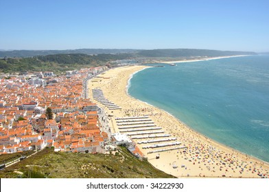 beautiful seaside resort of Nazare in Portugal