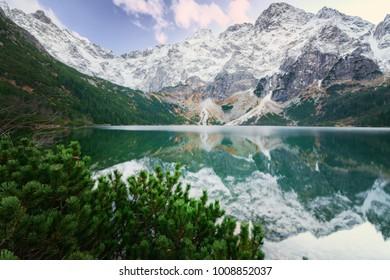 Beautiful See Eye lake in High Tatars.