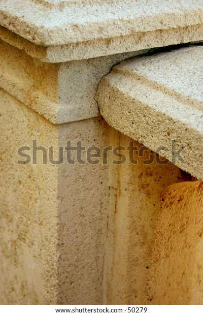 A beautiful selected detail of an old stone monument