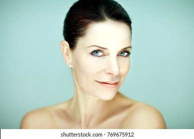 beautiful self confident middle aged woman