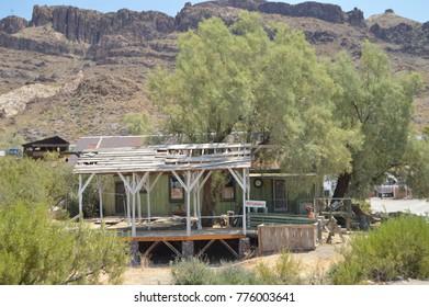 Beautiful Semiderruid House In Oatman, June 22, 2017. Route 66, Oatman. Arizona USA, EEUU.