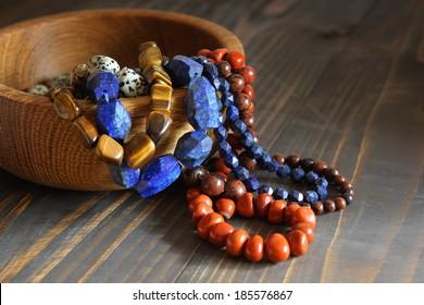 Beautiful semiprecious stone beads