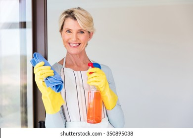 Elderly Cleaning House Stock Photos Images Photography